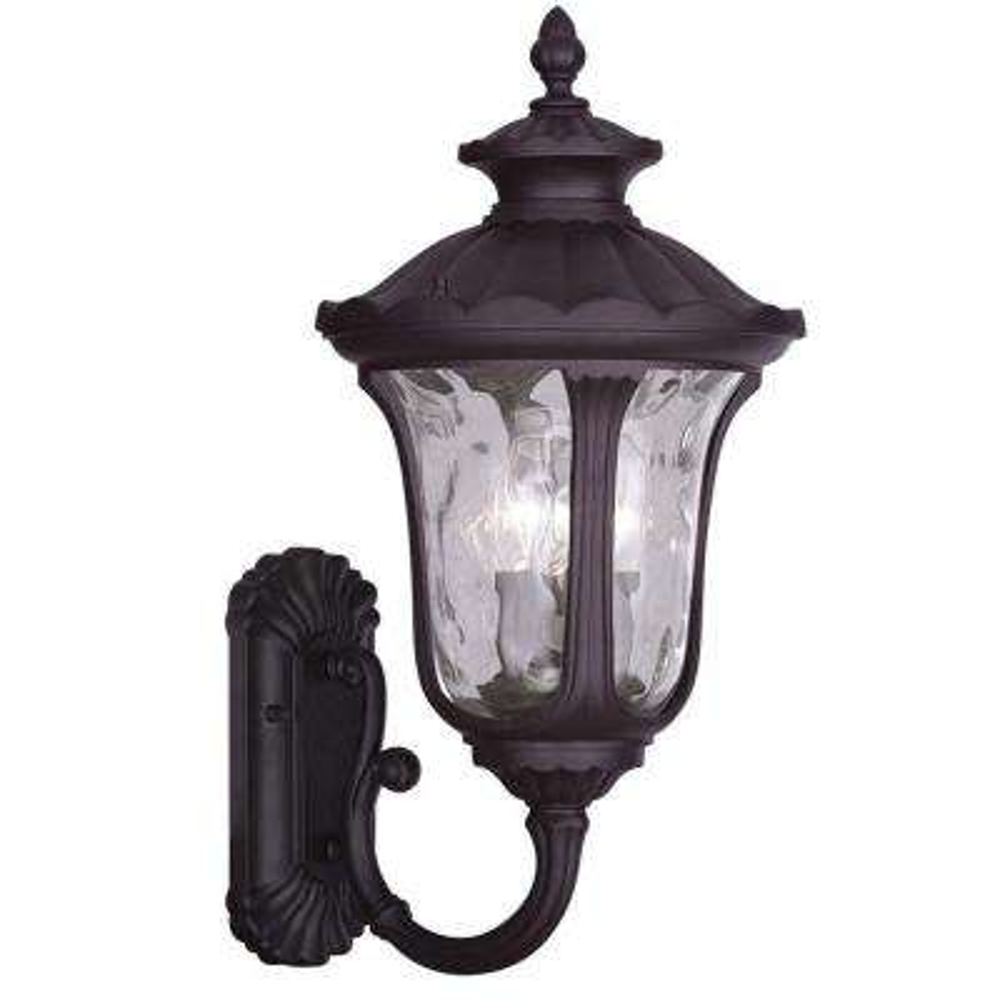 Providence 3-Light Bronze Outdoor Incandescent Wall Lantern