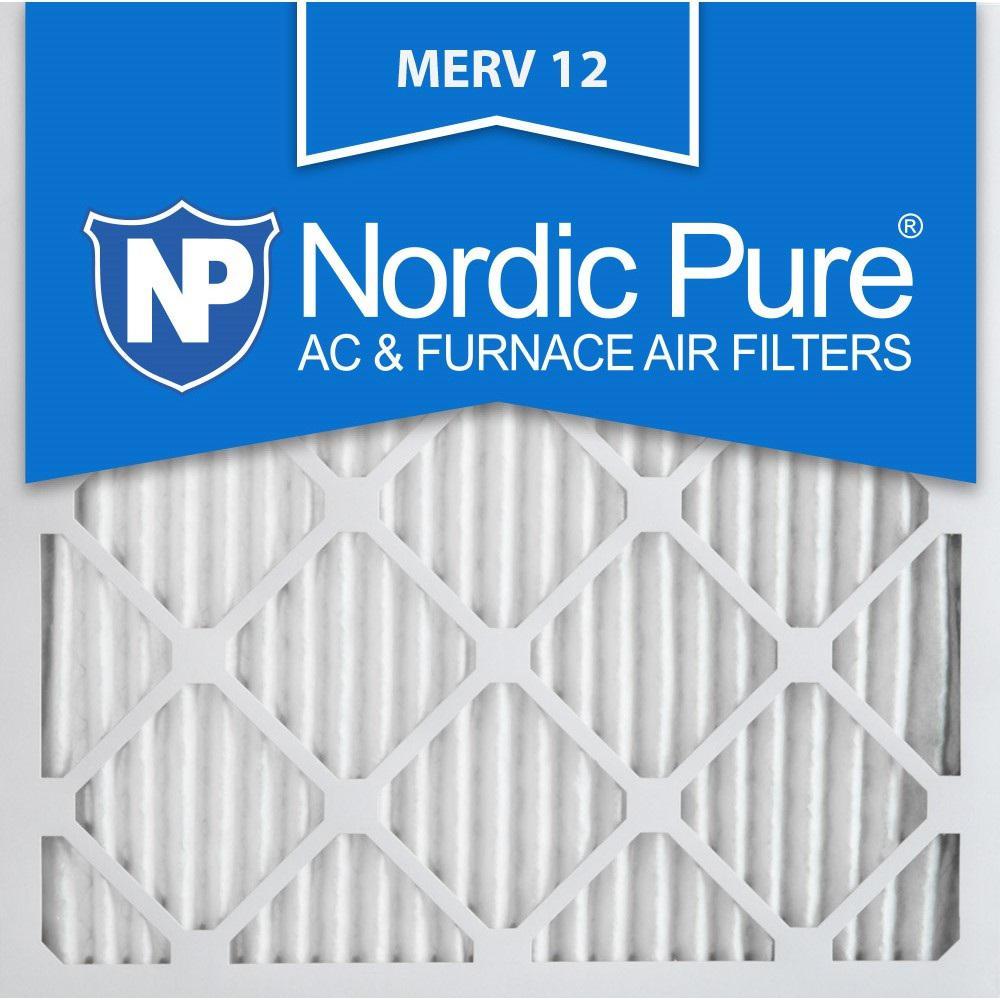 24 in. x 24 in. x 1 in. Allergen Pleated MERV 12 - FPR 9 Air Filters (6-Pack)