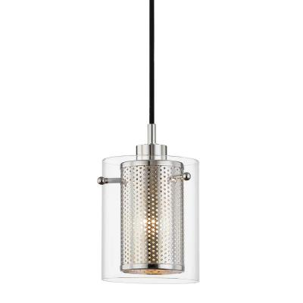 Elanor 1-Light Polished Nickel Pendant