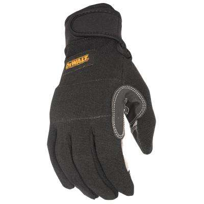 Large Black General Utility Work Glove