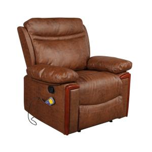 Pleasant Merax Brown Heating Vibrating Pu Leather Massage Recliner Ibusinesslaw Wood Chair Design Ideas Ibusinesslaworg