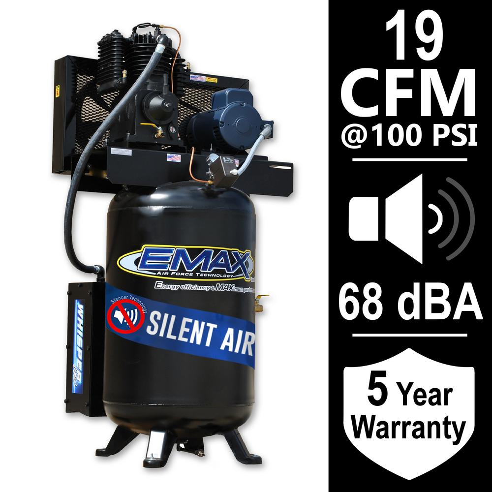 emax industrial series 80 gal 7 5 hp 1 phase silent air electric rh homedepot com