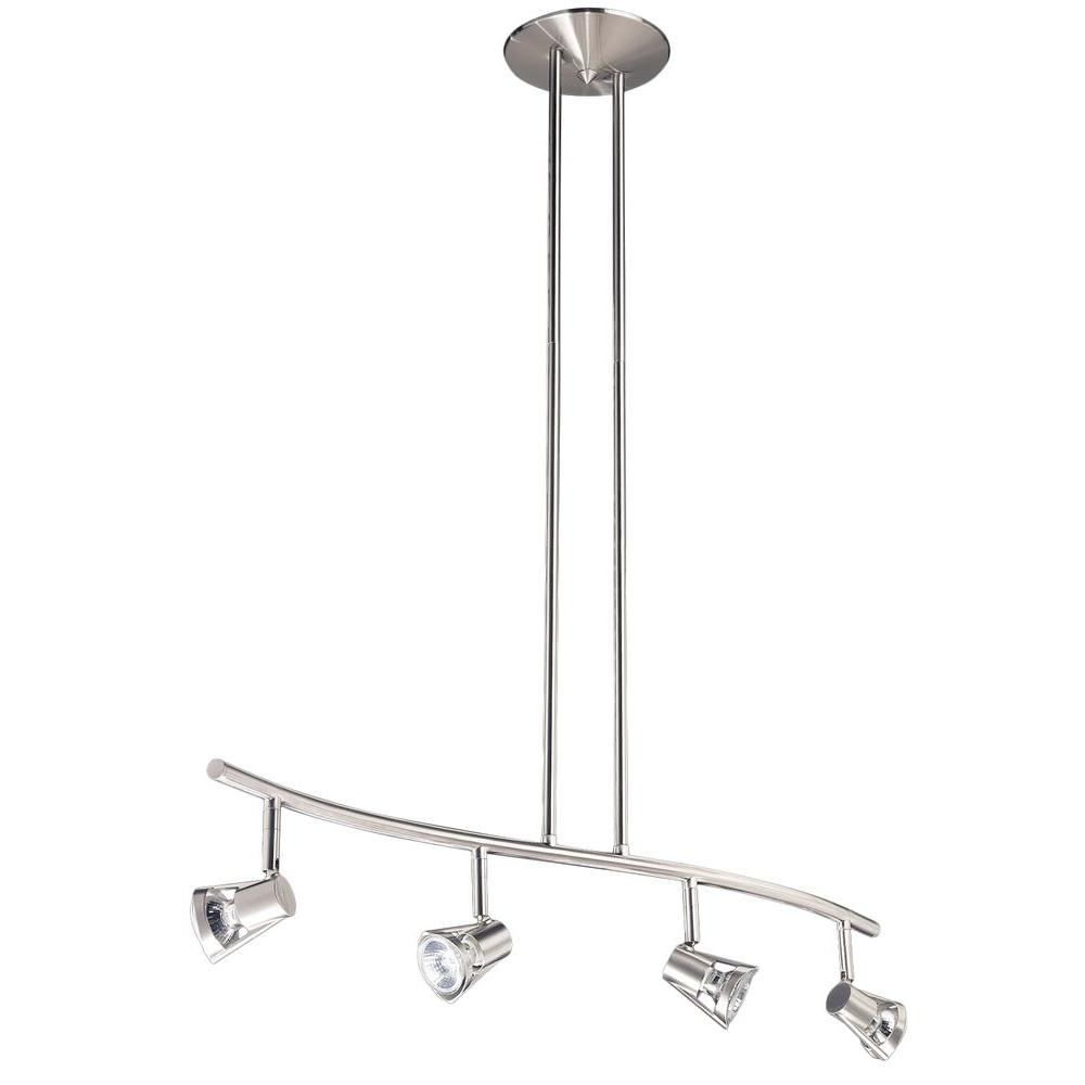 Cassiopeia 4-Light Ceiling Satin Nickel Incandescent Island Light