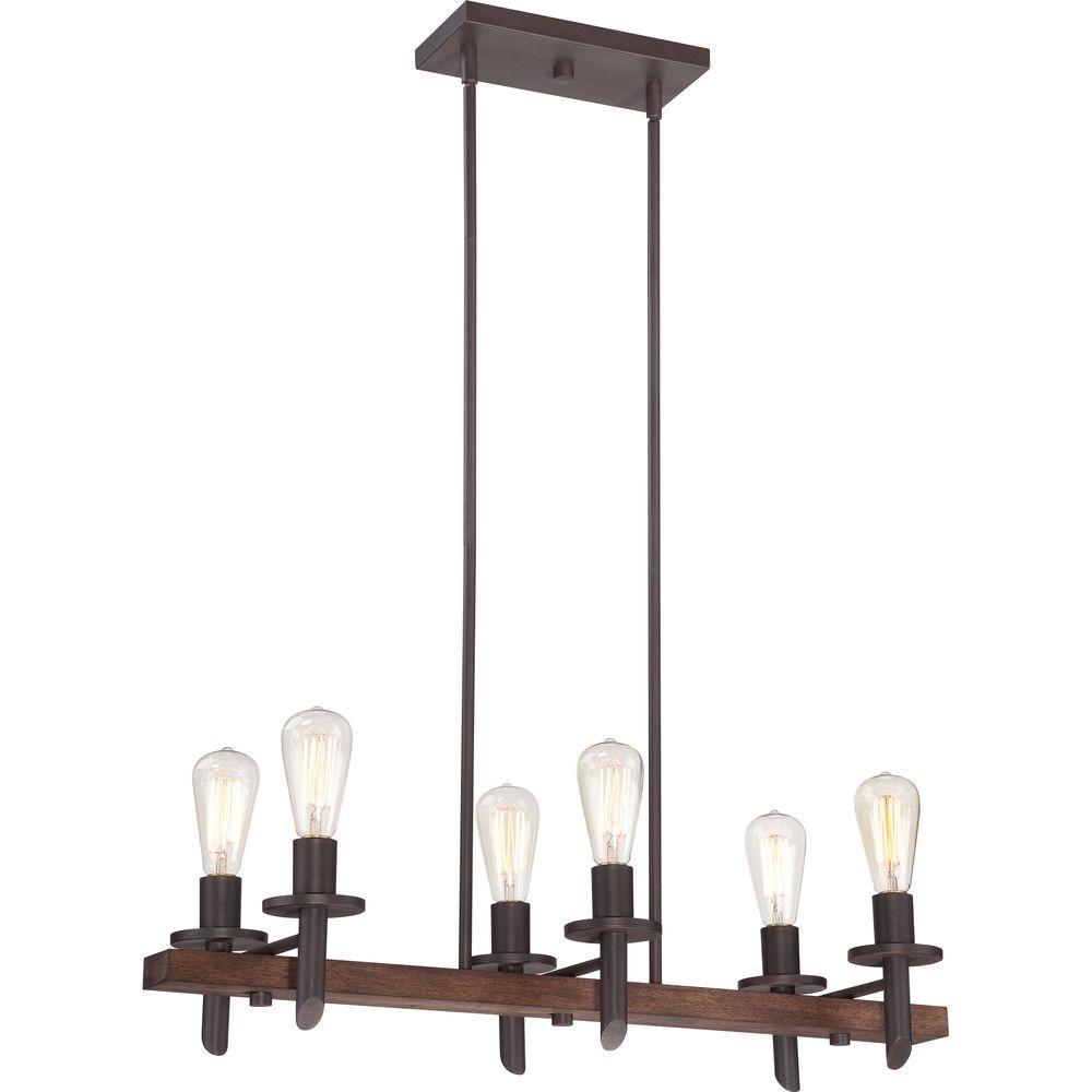 Home Decorators Collection Tavern 6-Light Dark Bronze Chandelier