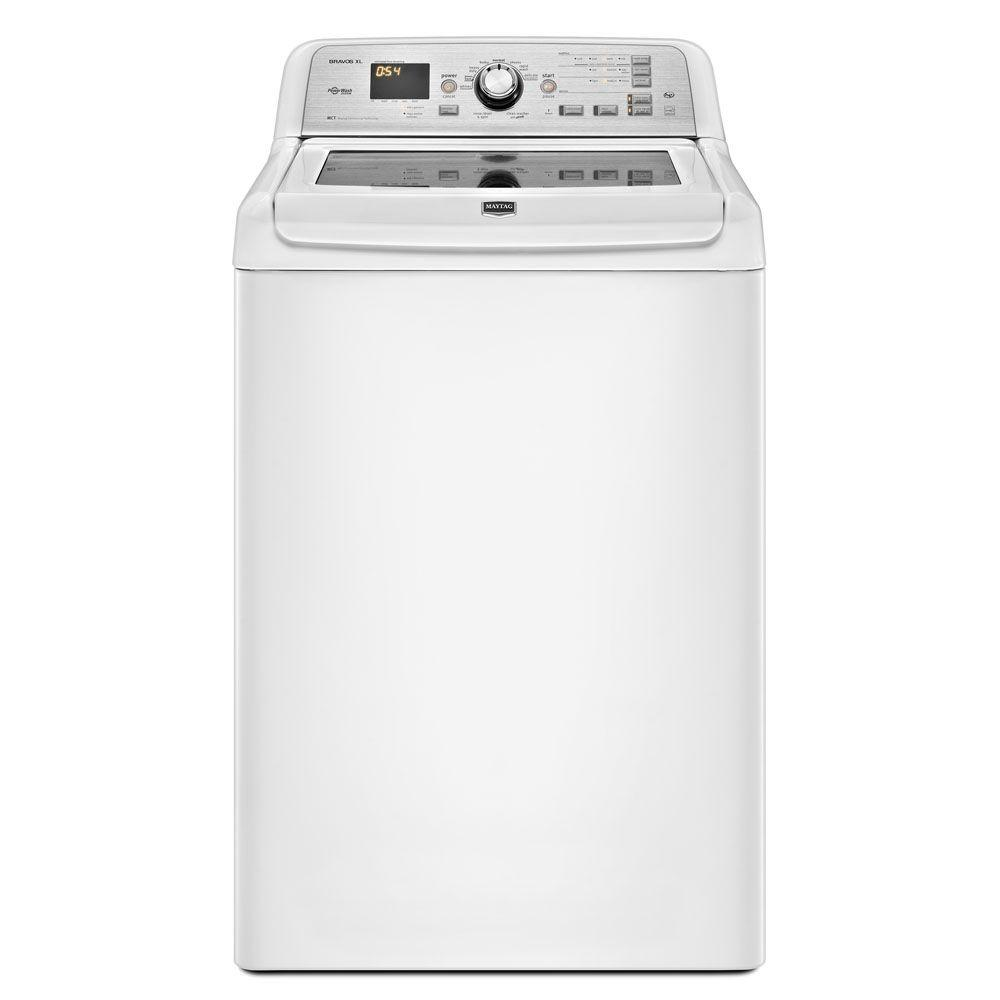 Maytag Bravos XL 4.5 cu. ft. High-Efficiency Top Load Washer in White, ENERGY STAR