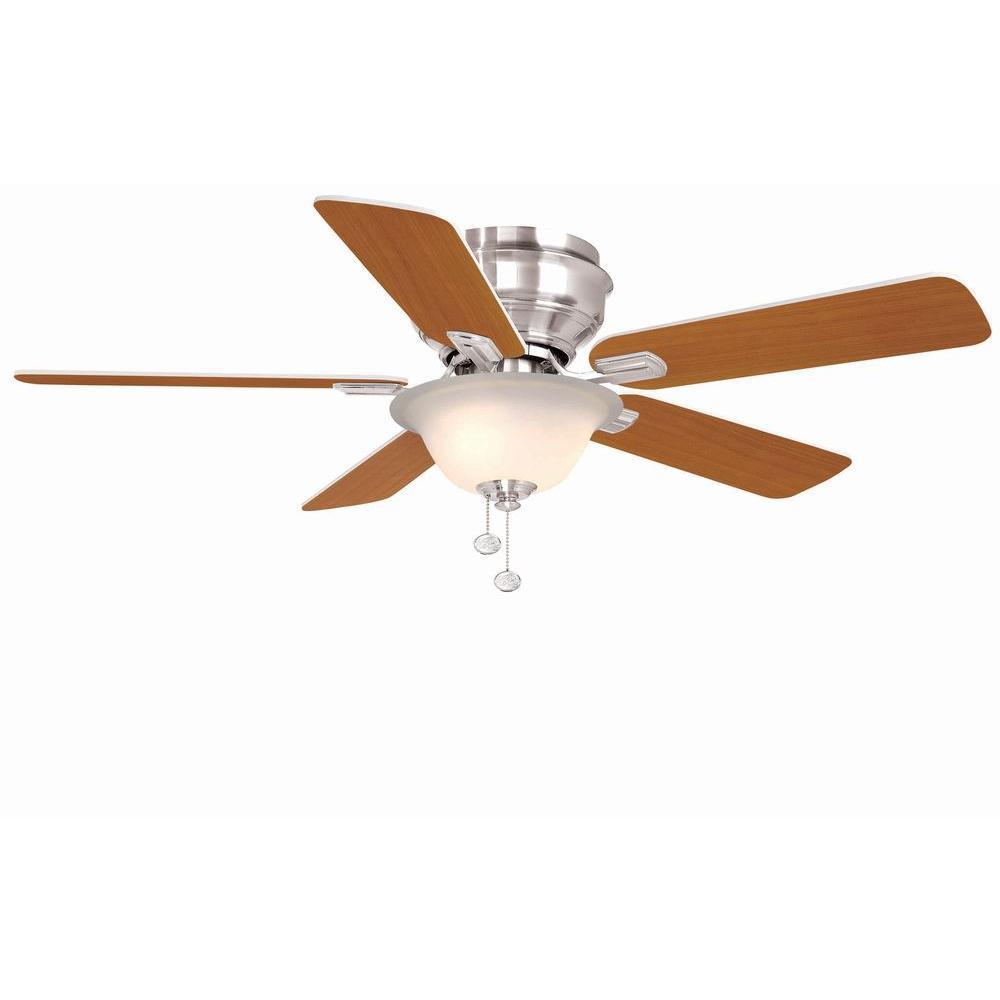 Hawkins 44 in. Indoor Brushed Nickel Ceiling Fan with Light Kit