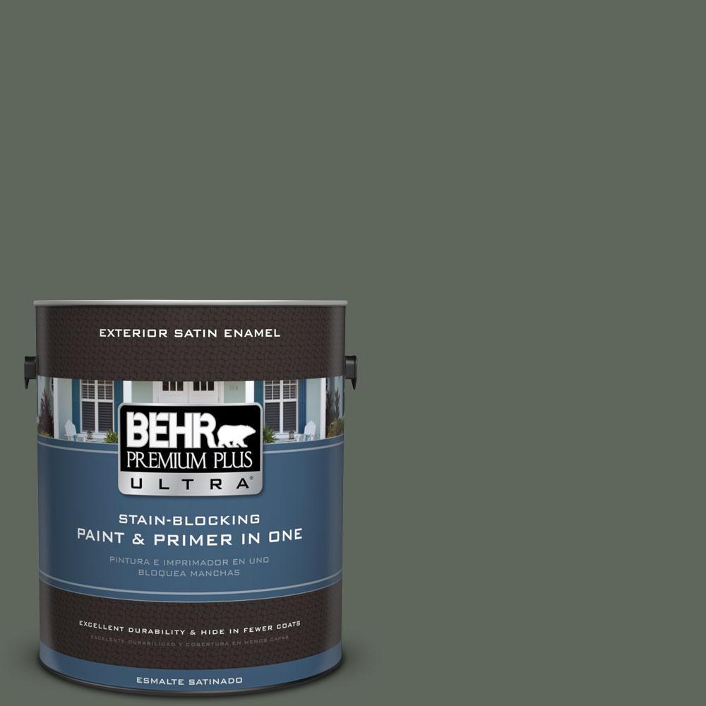 BEHR Premium Plus Ultra 1-gal. #710F-6 Painted Turtle Satin Enamel Exterior Paint