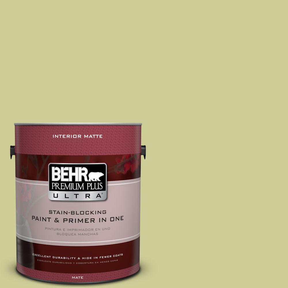 1 gal. #400D-4 Corn Husk Green Flat/Matte Interior Paint