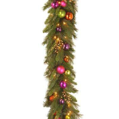 6 ft. x 16 in. Kaleidoscope Garland with 50 Warm White LED Battery Operated Lights