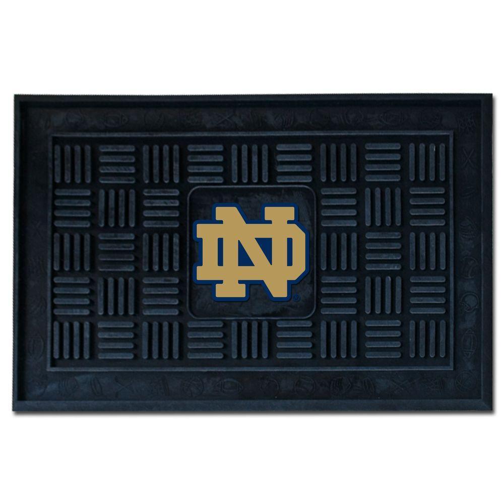 NCAA Notre Dame 19 in. x 30 in. Vinyl Door Mat