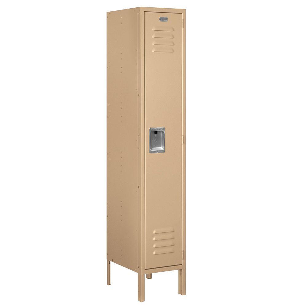 Salsbury Industries 61000 Series 12 in. W x 66 in. H x 15 in. D Single Tier Metal Locker Unassembled in Tan