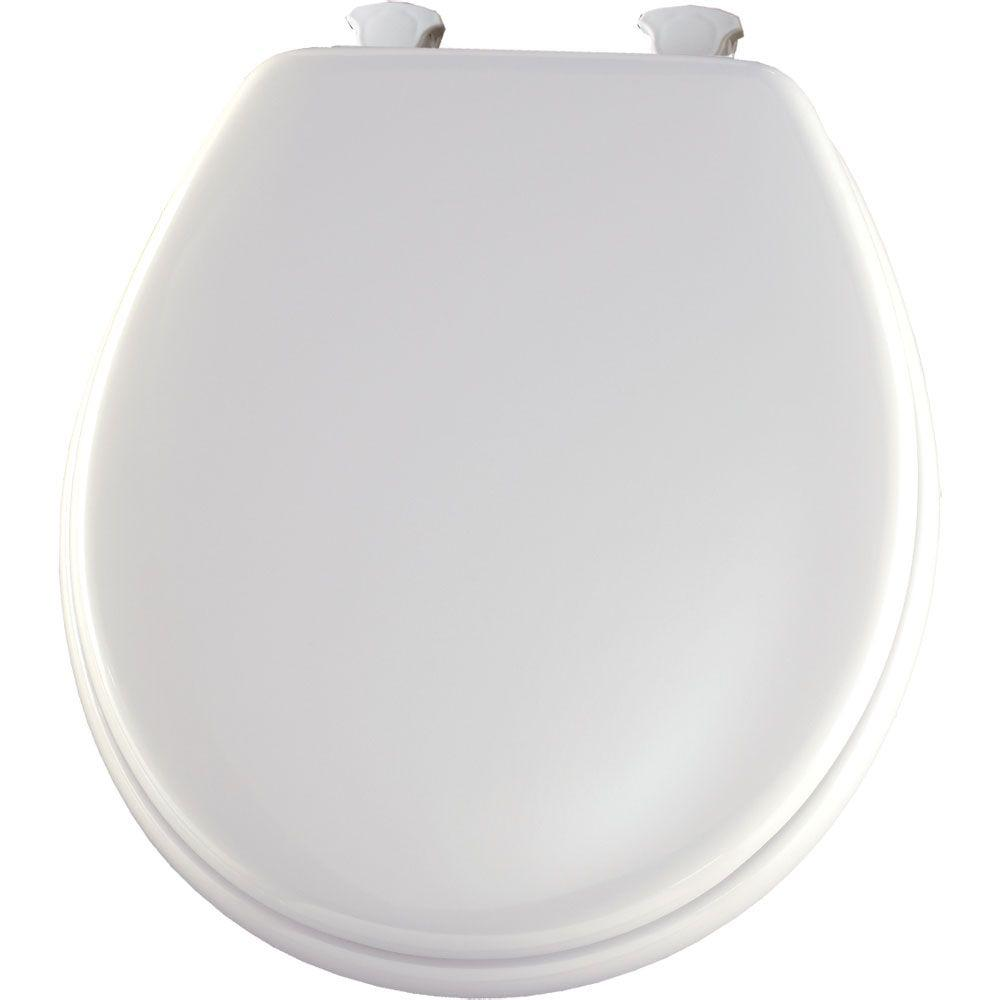 Glacier Bay Lift-Off Round Closed Front Toilet Seat in White