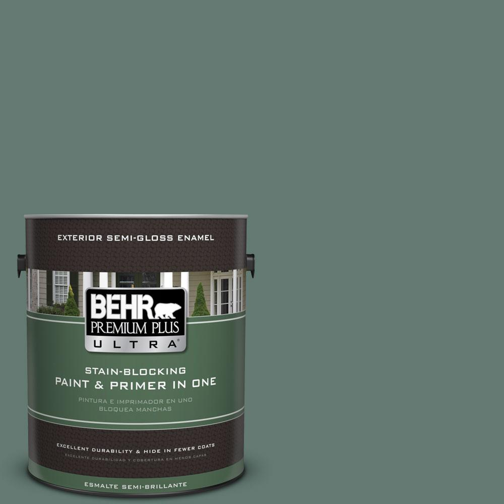 BEHR Premium Plus Ultra 1-gal. #S430-6 Forest Edge Semi-Gloss Enamel Exterior Paint
