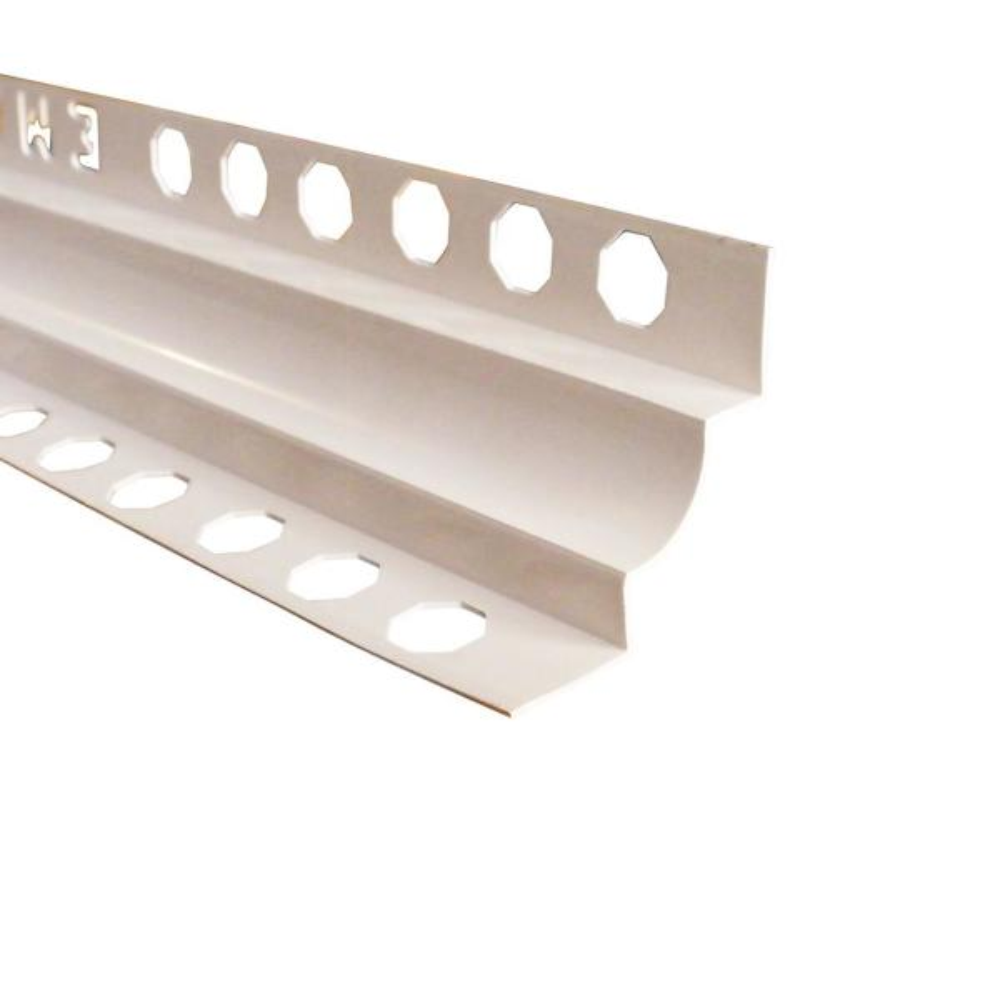 Novoescocia 5 White 7-16 in. x 98-1/2 in. PVC Tile Edging Trim