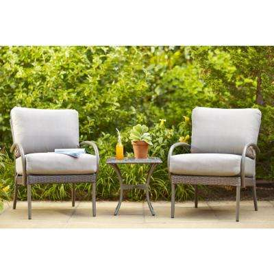 Posada Patio Lounge Chair with Gray Cushion (2-Pack)