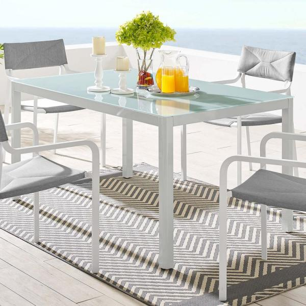 Outdoor Patio Aluminum Dining Table, Patio Furniture Raleigh