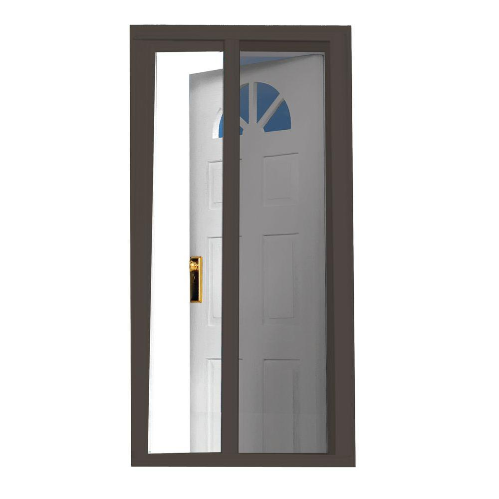 Beau Brown Retractable Screen Door