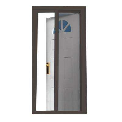 40 in. x 97.5 in. Brown Retractable Screen Door
