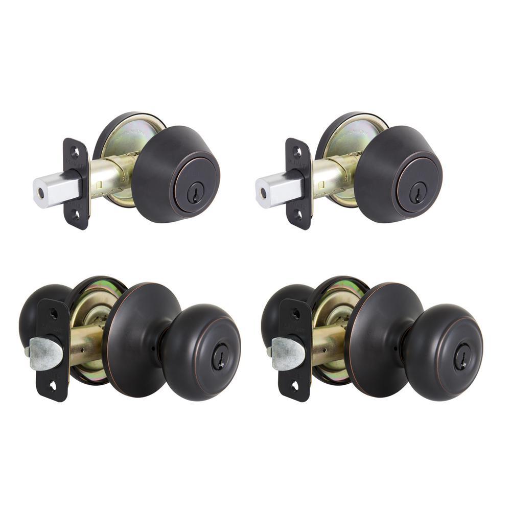 Hartford Aged Bronze Single Cylinder Keyed Entry Project Pack