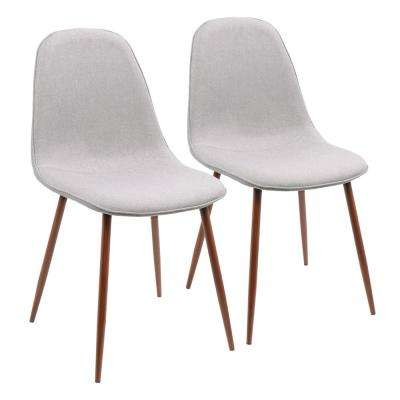 Pebble Walnut and Grey Dining/Accent Chair (Set of 2)