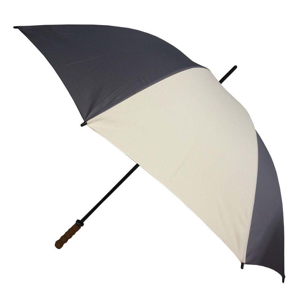 Kingstate 60 in. Arc Classic Sport Stick Umbrella in Grey/Beige