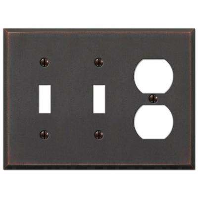 Manhattan 2 Toggle And 1 Duplex Wall Plate