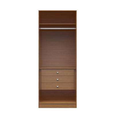 Chelsea 2.0 - 35.43 in. W Maple Cream Basic Wardrobe Closet 2 with 3-Drawers