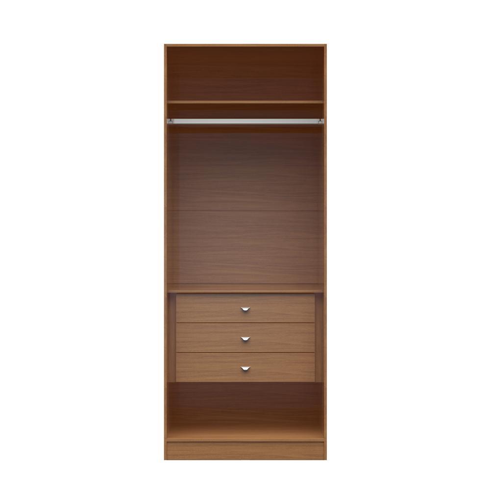 Manhattan Comfort Chelsea 2 0 35 43 In W Maple Cream Basic Wardrobe Closet With