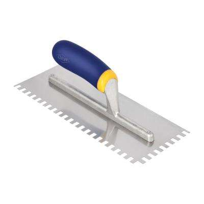 1/4 in. x 3/8 in. x 1/4 in. Comfort Grip Stainless Steel Square-Notch Flooring Trowel