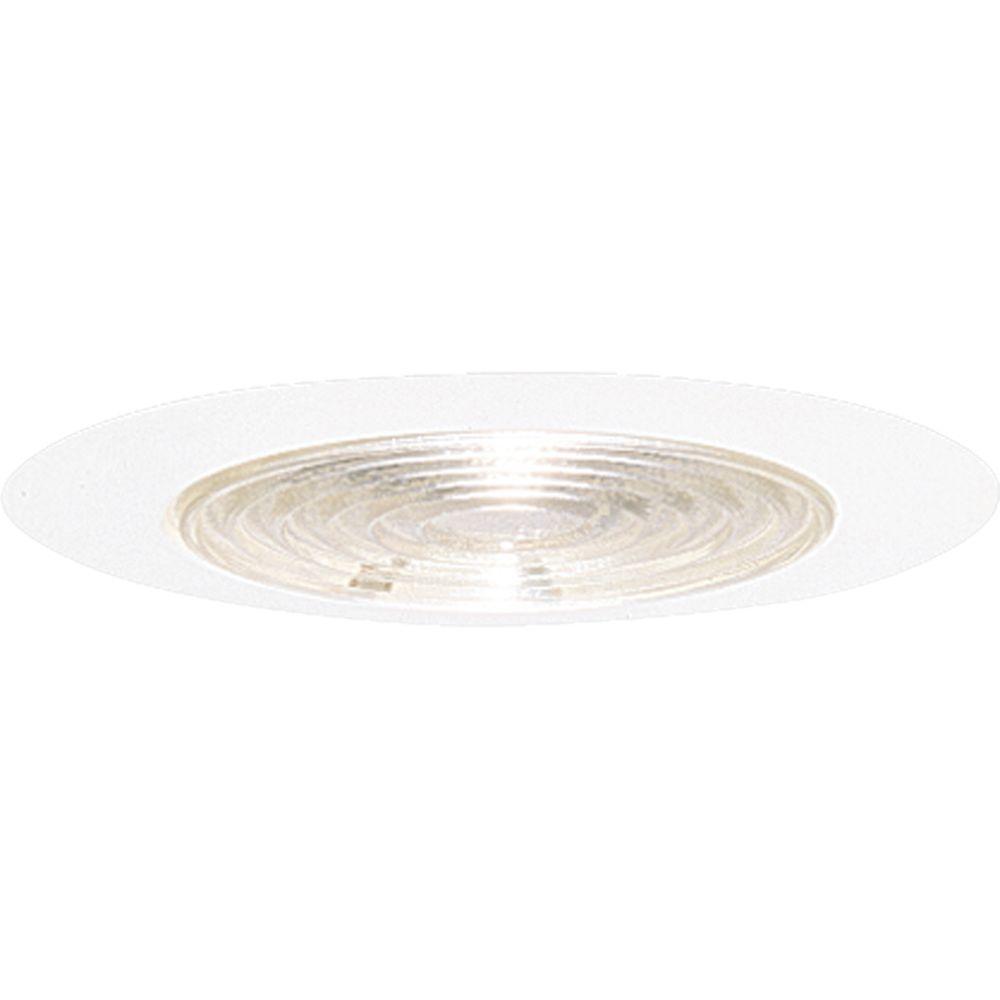Progress Lighting 6 in. White Recessed Fresnel Shower Trim Shower trim for use with Progress 6 in. recessed lighting housings. Fresnel lens. Wet location listed.