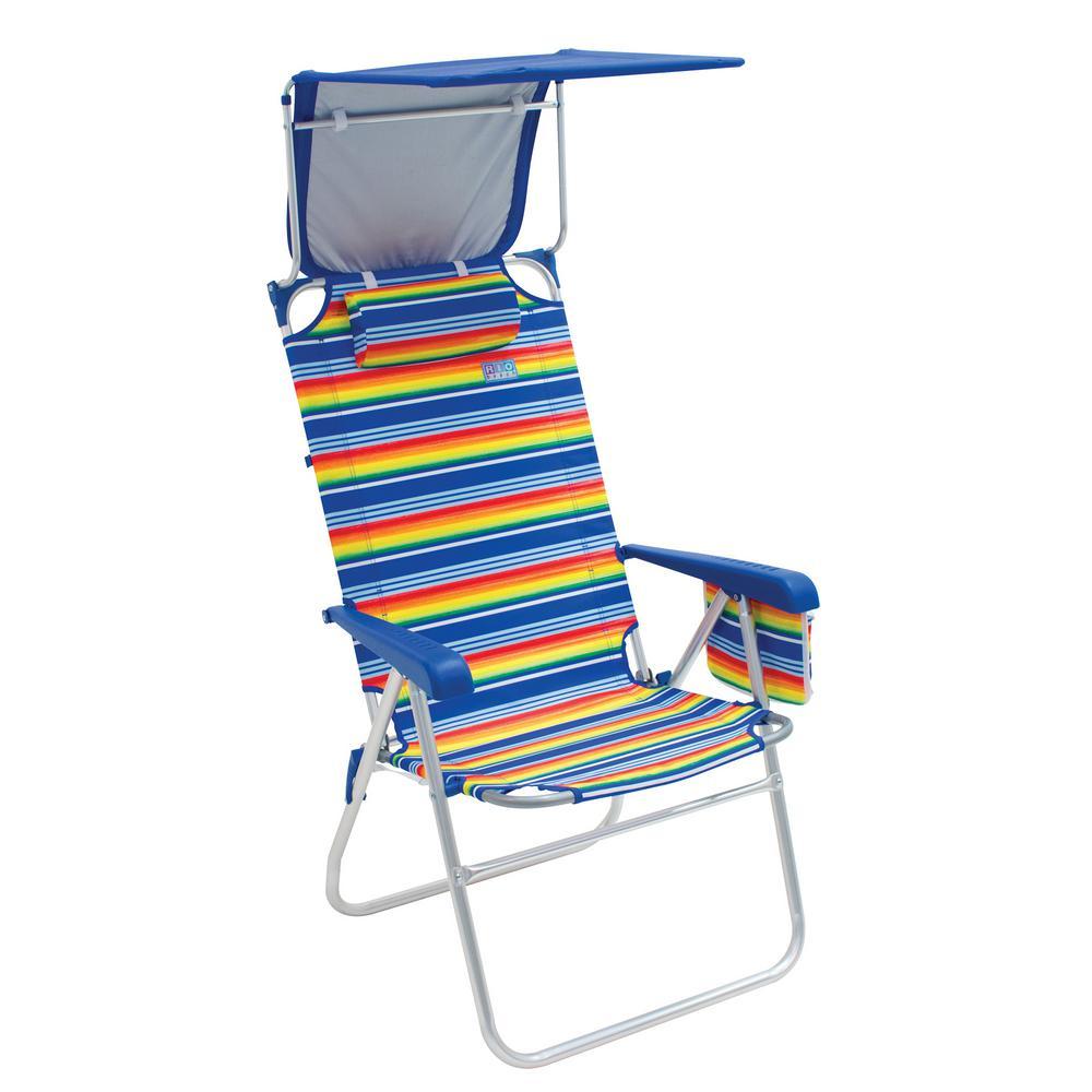 Hi-Boy Aluminum Beach Chair with Canopy