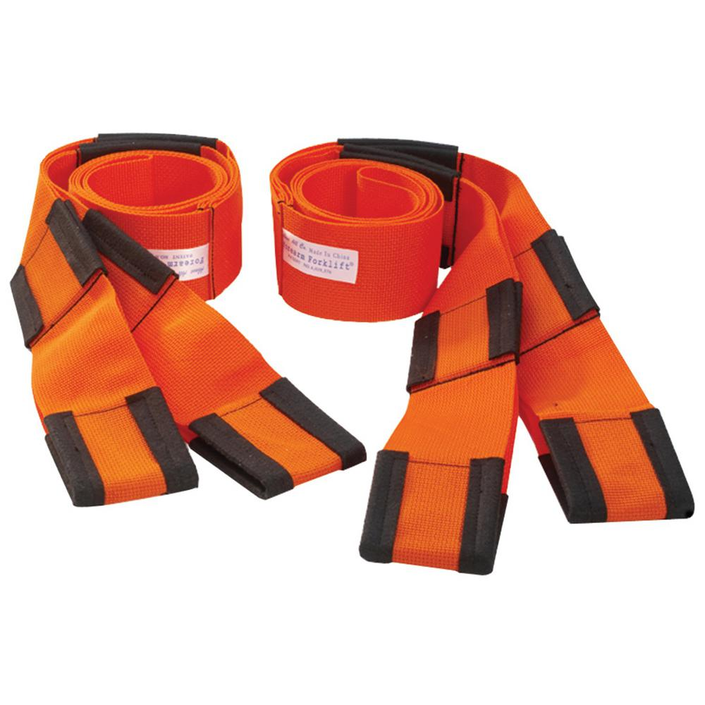 Forearm Forklift 8 In Moving Straps 2 Pack L74995cn The Home Depot