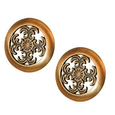 Bi-Fold Door Pull Knob, Antique Brass Plated
