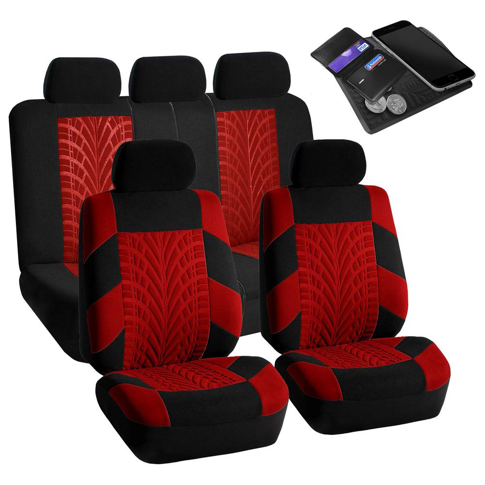 FH Group Polyester 47 in. x 23 in. x 1 in. Travel Master Full Set Car Seat Covers