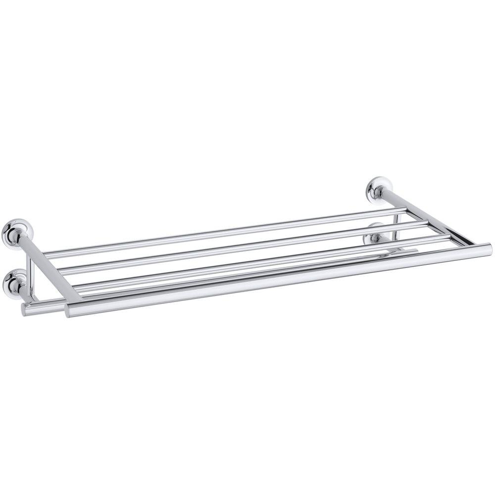 KOHLER Purist 24 in. Towel Hotelier in Polished Chrome