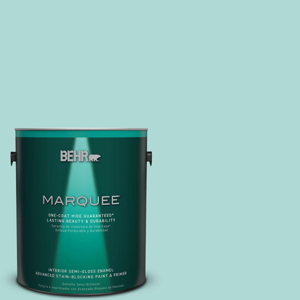 1 gal. #M450-3 Wave Top One-Coat Hide Semi-Gloss Enamel Interior Paint