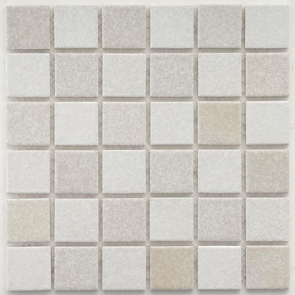 Merola Tile Hotaru Gray Glow in the Dark 12 in. x 12 in. x 5 mm Porcelain Mosaic Tile