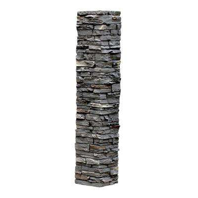 Slatestone 8 in. x 8 in. x 41 in. Rundle Ridge Faux Polyurethane Stone Post Cover