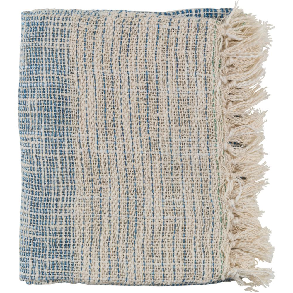 Erindale Dark Blue Cotton Blend Throw