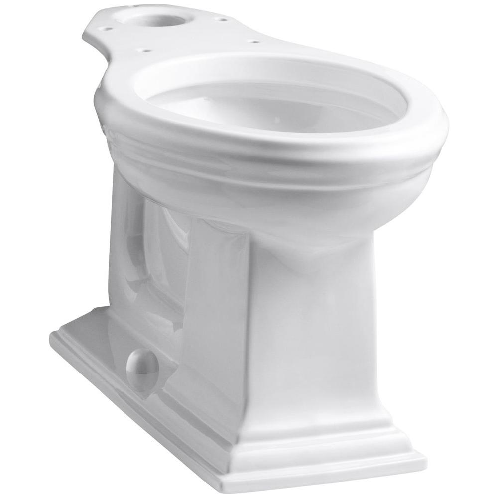 Superb Kohler Memoirs Comfort Height Elongated Toilet Bowl Only In White Theyellowbook Wood Chair Design Ideas Theyellowbookinfo