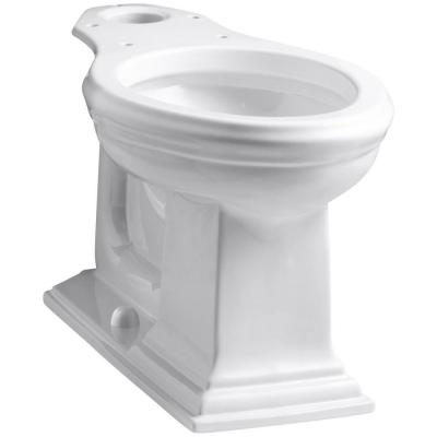 Memoirs Comfort Height Elongated Toilet Bowl Only in White