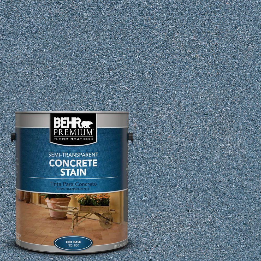 1 gal. #STC-24 Blue Boulder Semi-Transparent Interior/Exterior Concrete Stain