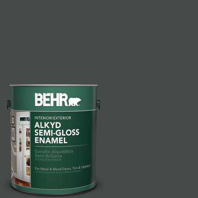 1 gal. #N450-7 Astronomical Semi-Gloss Enamel Alkyd Interior/Exterior Paint