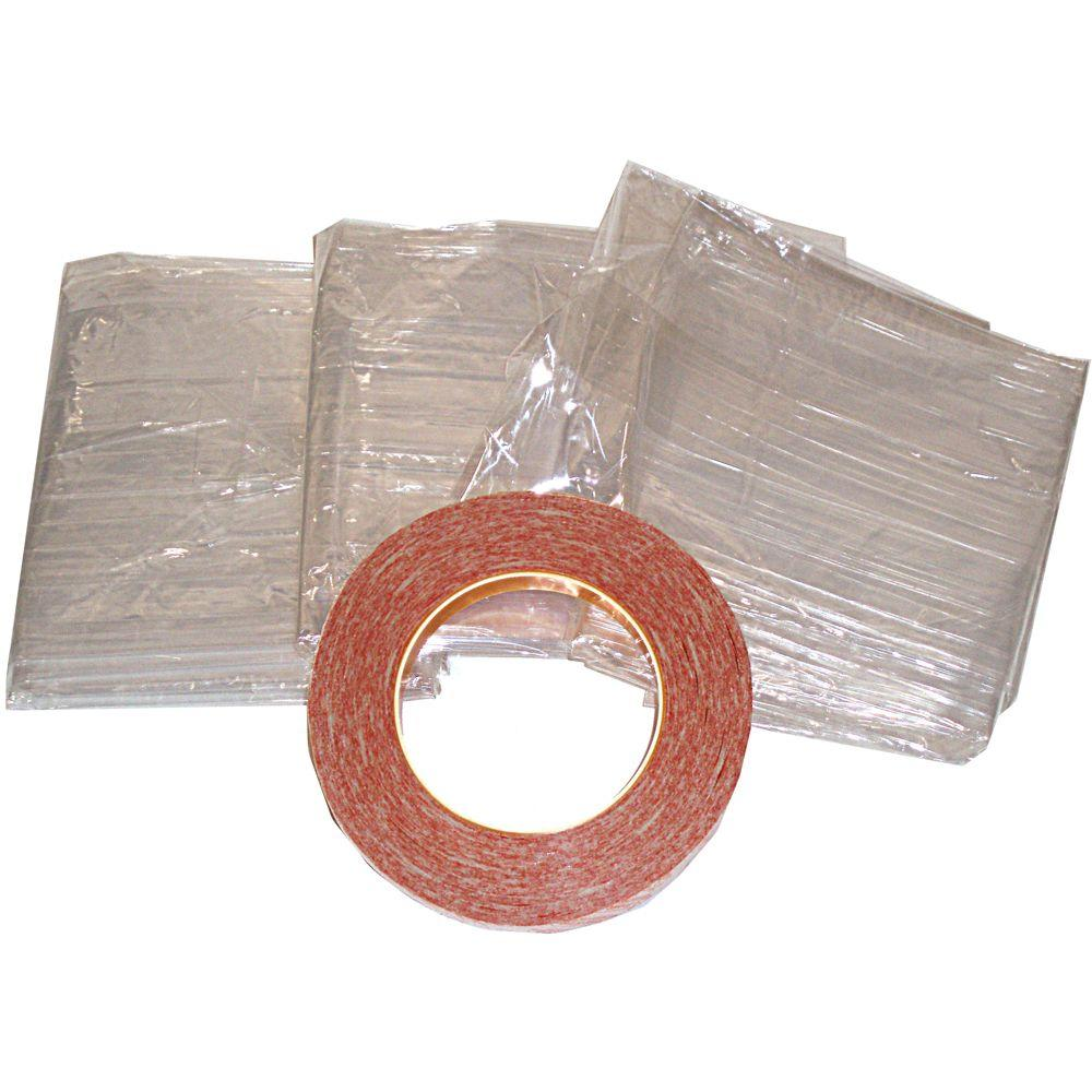 E/O Indoor Window Insulation Kit (9 per Pack), Clear