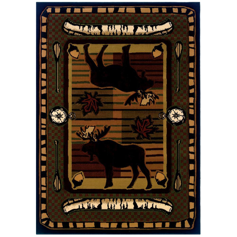 Designer Contours John Q. Wilderness Stream Terracotta 3 ft. x 4 ft. Mat Rug