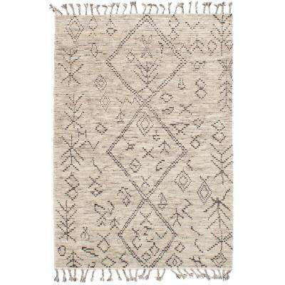Tangier Ivory, Grey 5 ft. x 8 ft. Indoor Area Rug