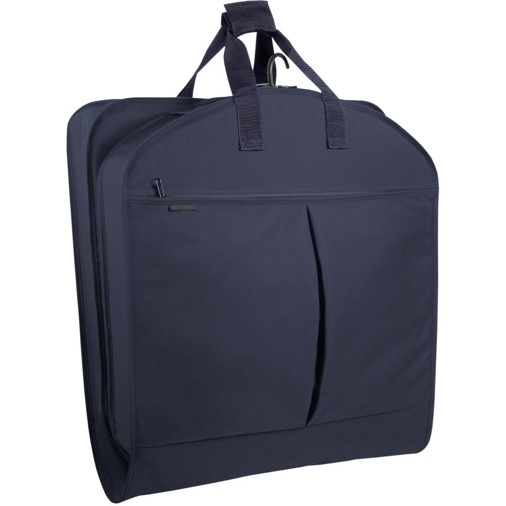 45 in. Navy Suit Length Carry-On XL Garment Bag with 2-Pockets