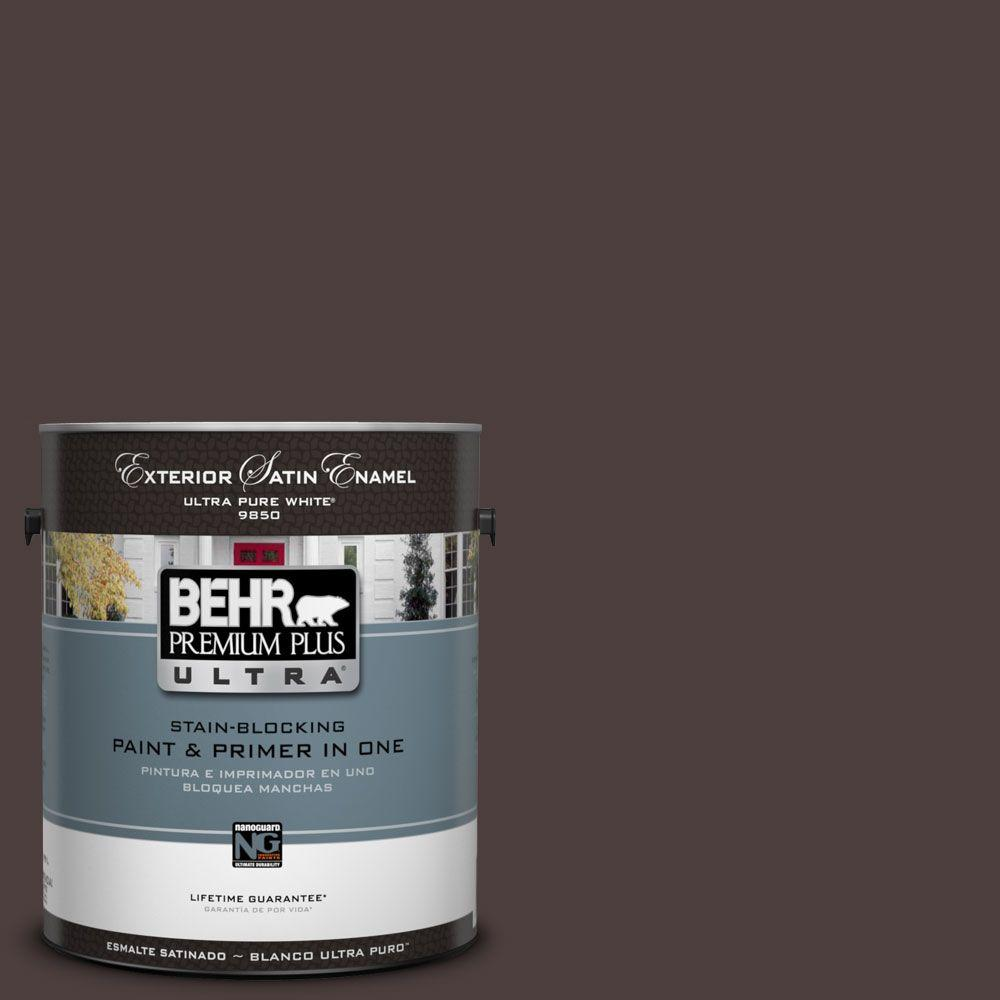 BEHR Premium Plus Ultra 1-Gal. #UL110-23 Polished Leather Satin Enamel Exterior Paint