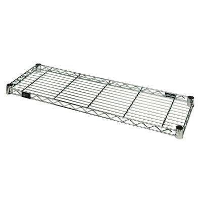14 in. W x 36 in. L Stainless Steel One Industrial Shelf