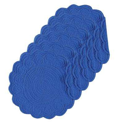 Ultramarine Round Blue Placemat (Set of 6)